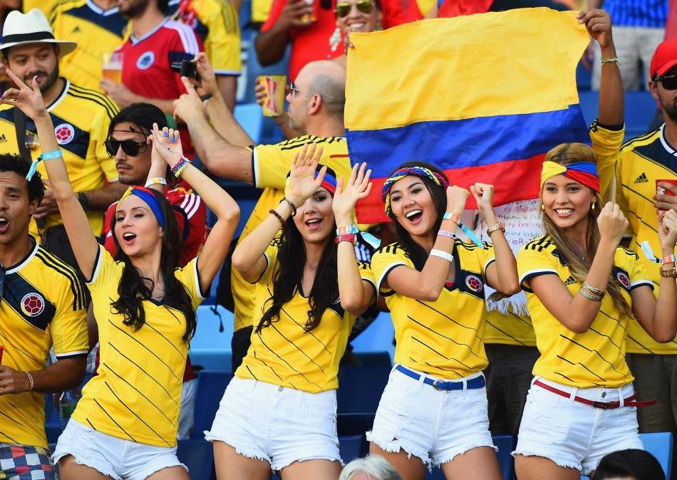 16 hot colombia fans - hottest female fans 2014 world cup