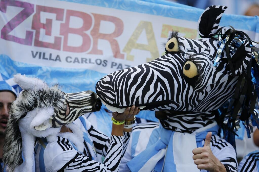 8 argentine zebras - craziest fans at 2014 fifa world cup