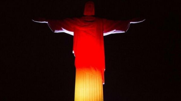Christ the Redeemer in German colors