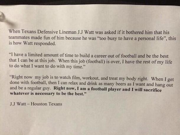 J.J. Watt Explains Why He Doesn't Have A Girlfriend In