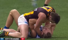 Aussie Rules Footballer Works Out His Differences With Another Player by Strangling Him (Video)