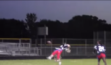 Powder Puff Football Kick Return Results in Hilarious Ball to the Face (Video)