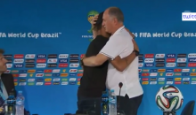 Neymar Interrupts Coach's Press Conference to Give Him a Hug Following Loss to Holland (Video)