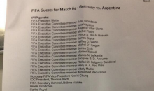 Check Out All the VIP Names on the Official World Cup Guest List (Tweet and Photo)