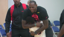 Here's Footage Of LeBron James Jr. Playing Hoops in Front of His Dad (Video)