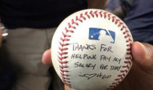 Houston Astro Dallas Kuechel Tosses Hecklers a Signed Ball with a Friendly Message (Pic and Tweet)