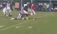 Texans Rookie Jadeveon Clowney Spares RB Dennis Johnson His Wrath in Camp Drill (Tweet and Video)