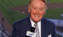 Vin Scully Gets Standing Ovation When He Announces He's Returning As Dodgers Announcer for 66th Season (Video)