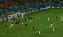 Watch All Of Tim Howard's Record Setting 16 Saves Against Belgium at Once (GIF)