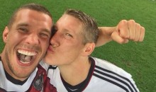 Germany's Lukas Podolski Scores Two Great Selfies After World Cup Victory (Photos)