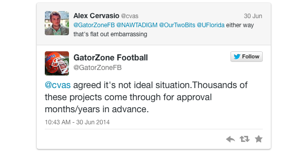aaron hernandez calendar florida football tweet