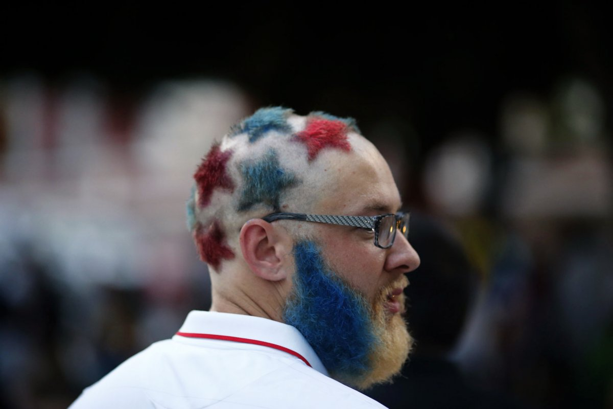 american flag hair - craziest fans at 2014 fifa world cup