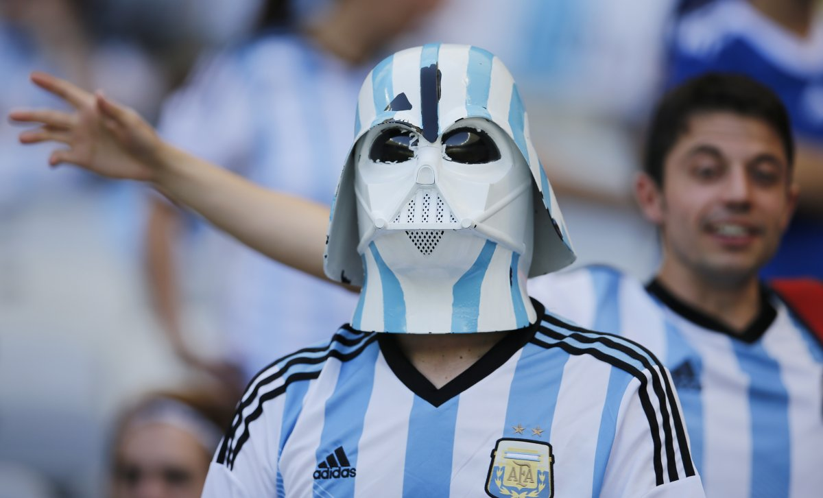 argentina darth vader - craziest fans at 2014 fifa world cup