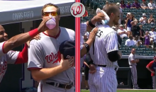 Brandon Barnes and Aaron Barrett Engage in Post-Anthem Standoff Prior to Nationals-Rockies Game (Video)