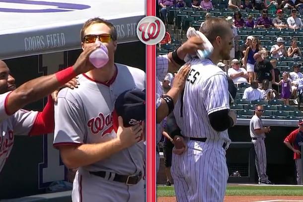 baseball standoff aaron barrett vs brandon barnes