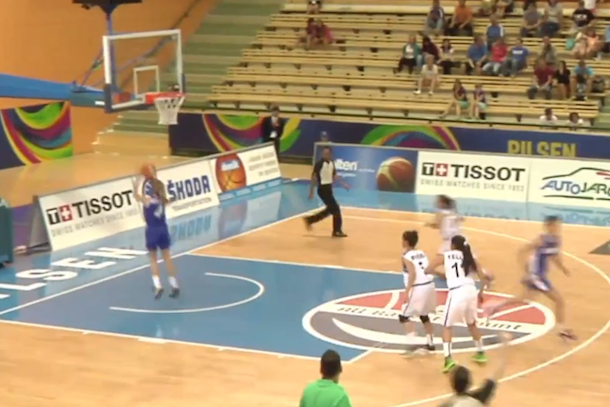 basketball player scores on wrong basket