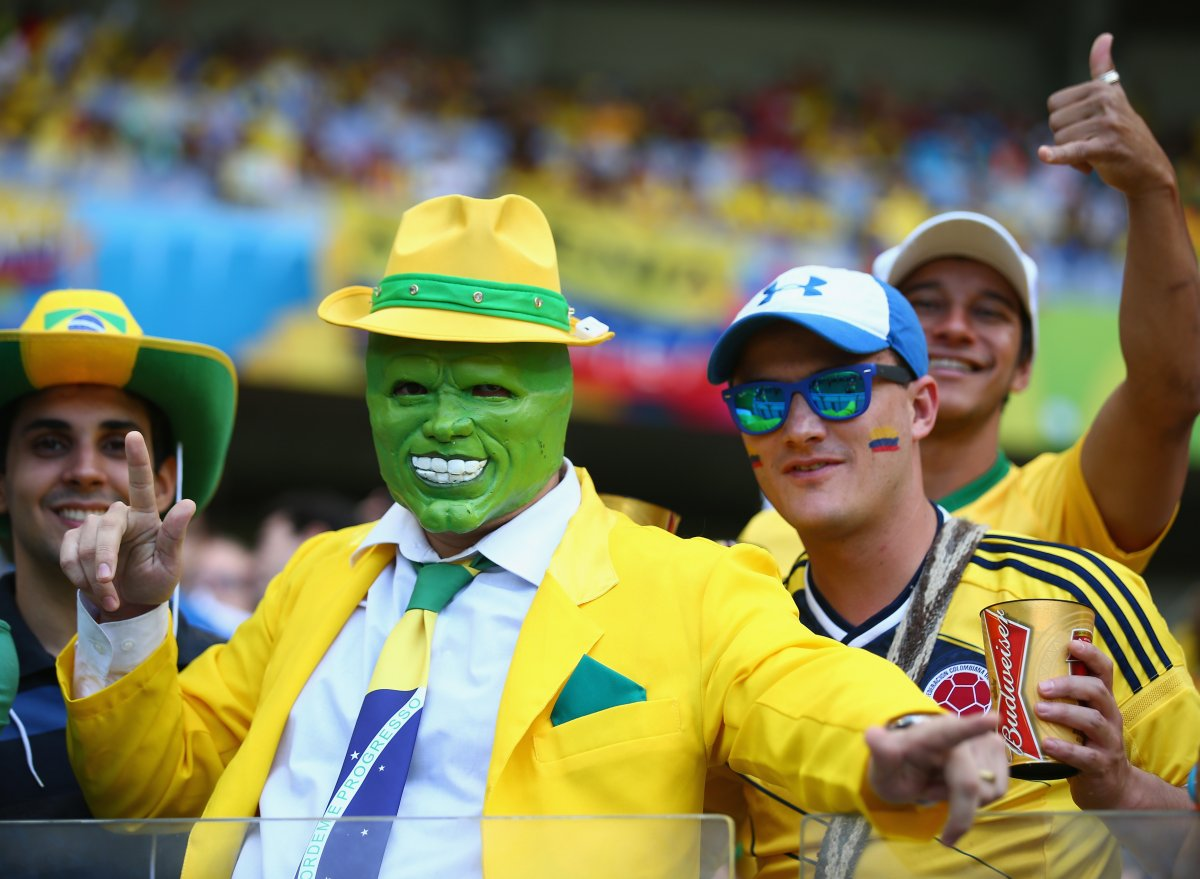 brazil fan in the mask mask - craziest fans at 2014 fifa world cup