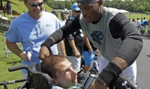 Cam Newton Gives Shoes Off His Feet to Fan in Wheel Chair at Panthers Training Camp (Pic)