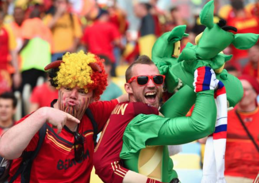 crazy belgium fan - craziest fans at 2014 fifa world cup