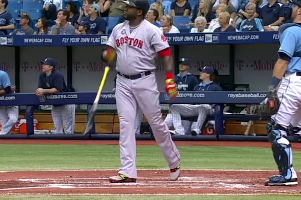 david ortiz bat flip pisses off tampa bay rays