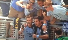 MLS Player Celebrates Goal by Taking Selfie with Fans (Video + Pic)