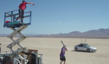 "Dude Perfect Presents ""Desert Drifting Baseball"" (Video)"