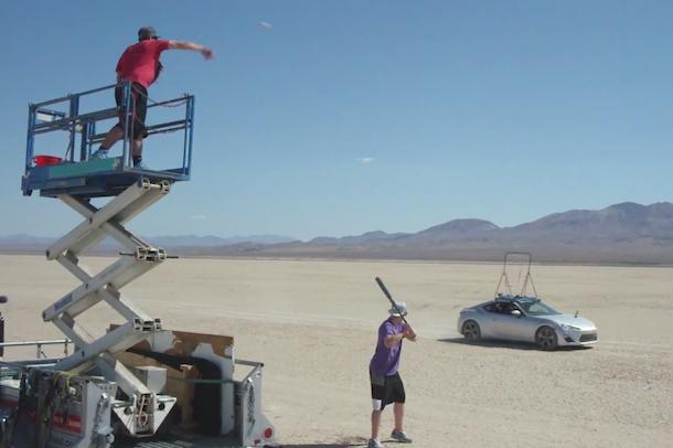 dude perfect baseball drifting