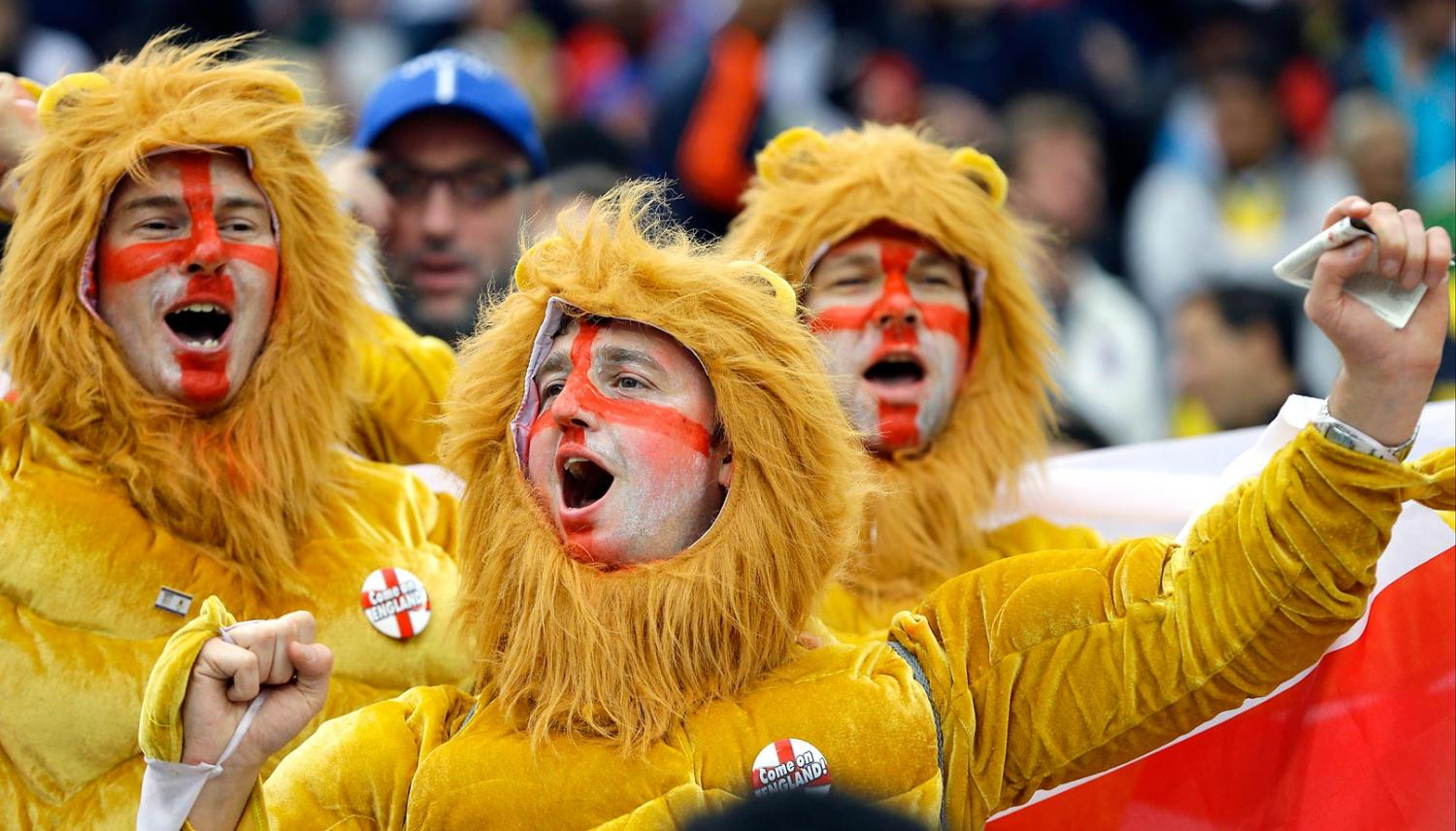 england three lions - craziest fans at 2014 fifa world cup