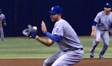 Watch This Kevin Kiermaier Line Drive Rip a Hole in Eric Hosmer's Glove (Video)