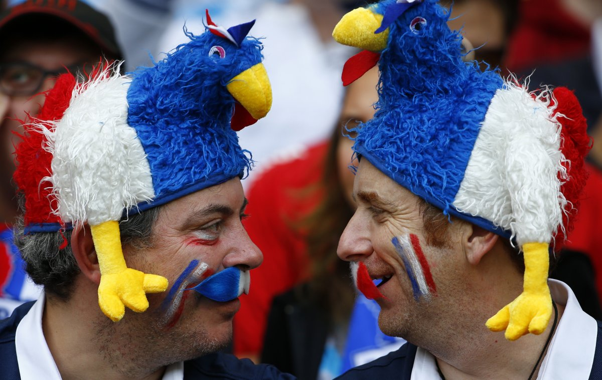 french rooster hat fans - craziest fans at 2014 fifa world cup