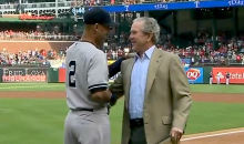 George W. Bush Surprises Derek Jeter with Special Retirement Gift Prior to Yankees-Rangers Game (Video)