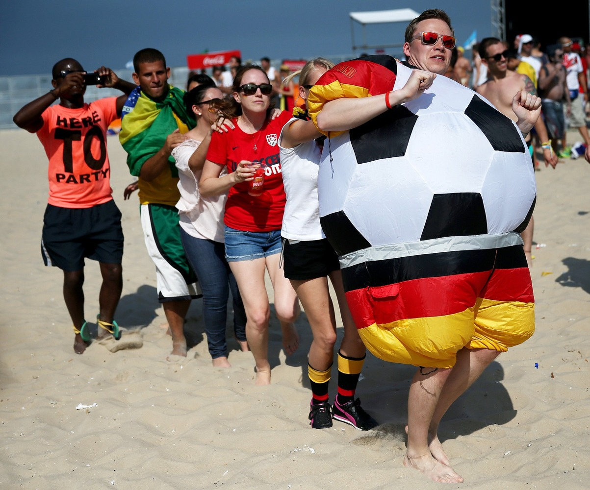 german human soccer ball - craziest fans at 2014 fifa world cup