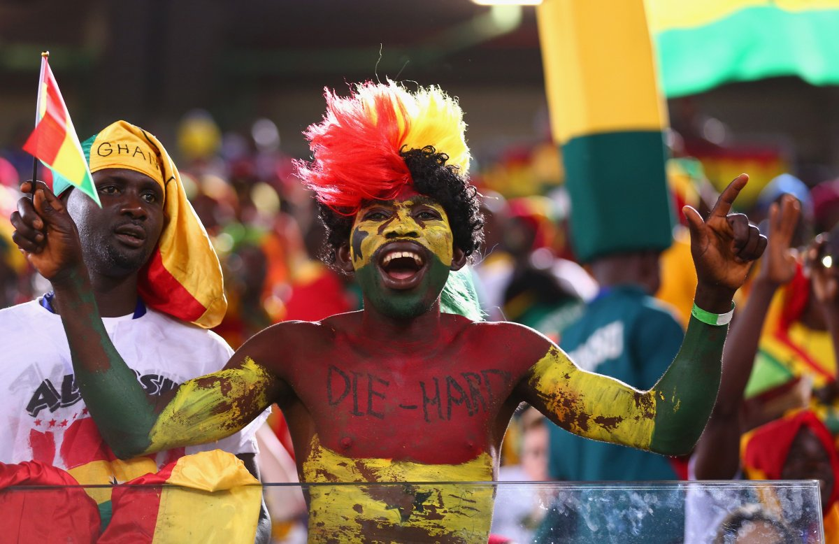 ghana world cup fan die hard paint - craziest fans at 2014 fifa world cup