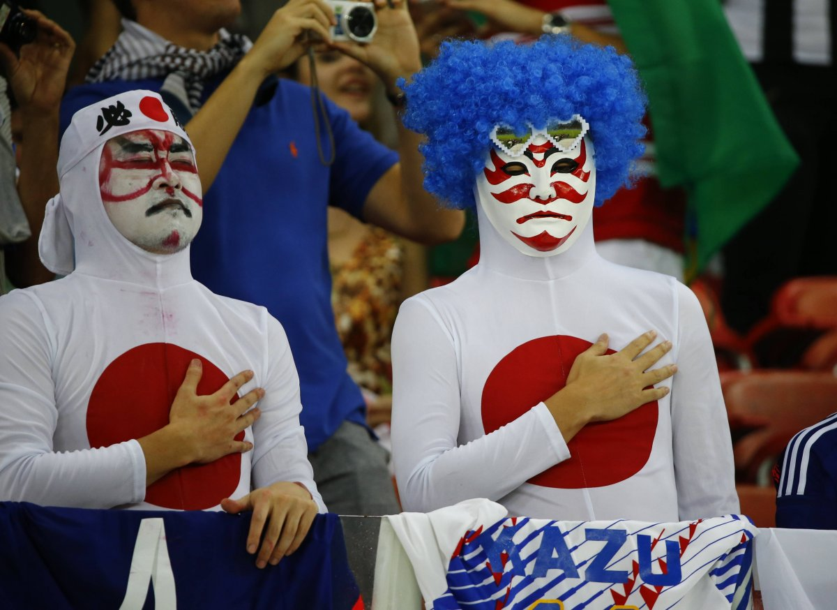 japan samurai guys - craziest fans at 2014 fifa world cup