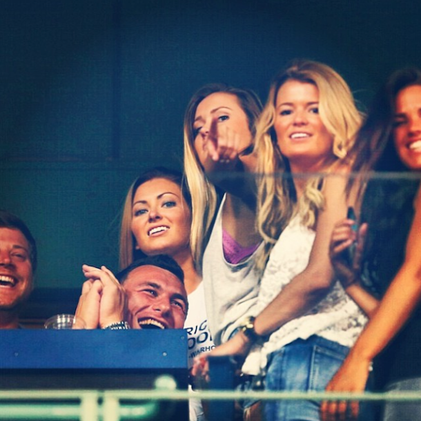johnny manziel fenway red sox hot chicks 2