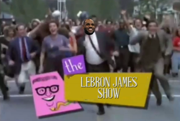 lebron james show cleveland rocks video