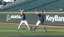 "Mariners Reliever Tom Wilhemlsen and Pitching Coach Rick Waits ""Turn Down For What""…And it was Awesome (Video)"