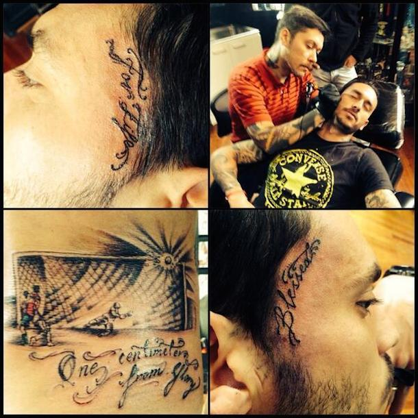 mauricio pinilla world cup miss tattoo