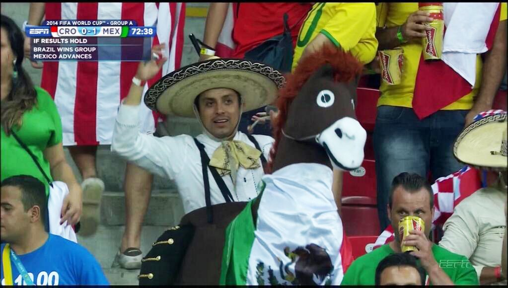 mexico fan on a donkey - craziest fans at 2014 fifa world cup