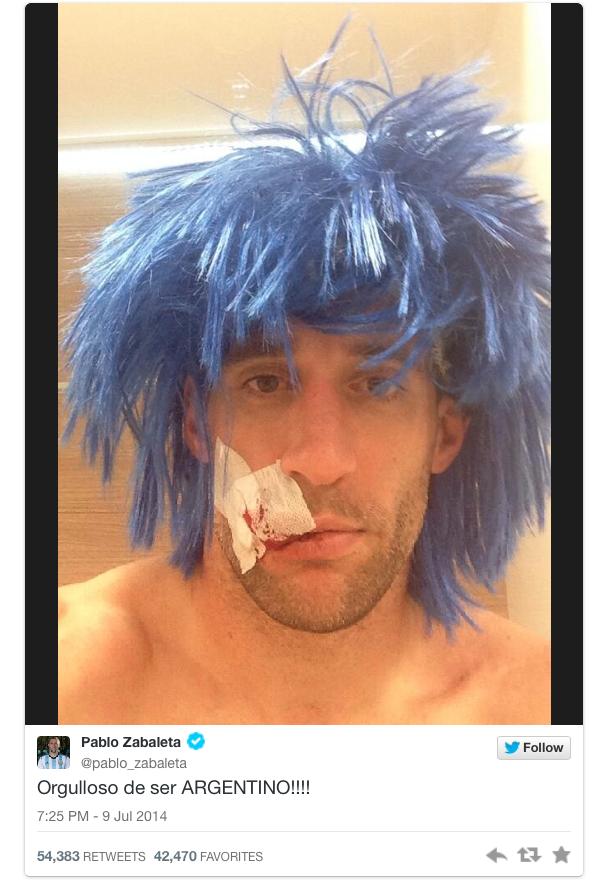 pablo zabaleta tweet argentina world cup