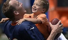 Peyton Manning Getting Tackled by His Adorable Kids Is the Gosh Darn Peyton Manningest Thing You've Ever Seen (Video + Pics)