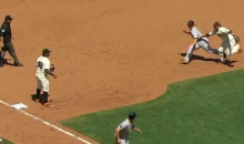 Pittsburgh Pirate Run Themselves Right Out of the Game Against Giants (Video)
