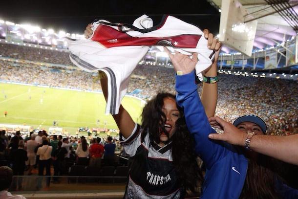 rihanna celebrating german world cup win
