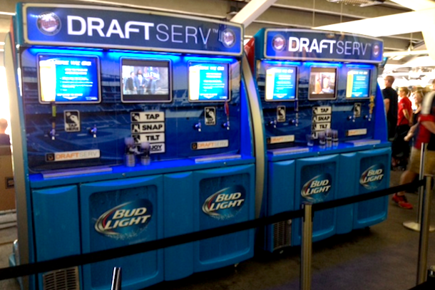 self serve beer machines at target field