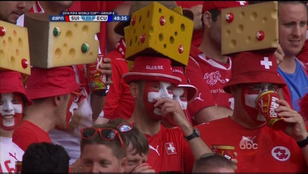 swiss cheeseheads - craziest fans at 2014 fifa world cup