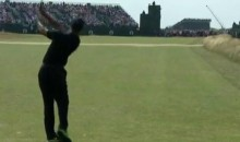 Tiger Woods Is Having a Rough Day (Pun Intended) at the 2014 British Open (Videos)