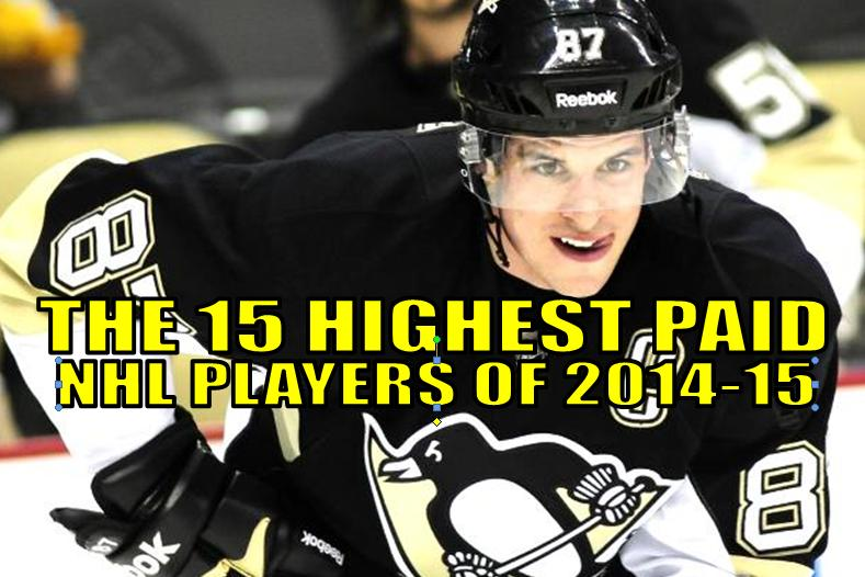 top nhl salaries (highest paid nhl players 2014-15)