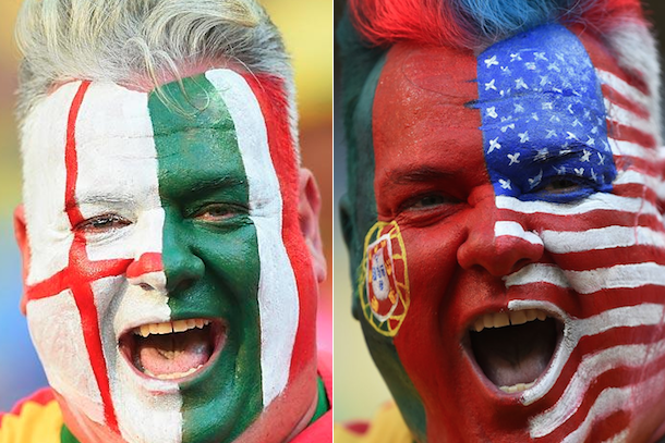 two-face world cup fan