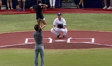 Pairs Figure Skaters Throw Out Ceremonial First Pitch Like Only Pairs Figure Skaters Can (Video)