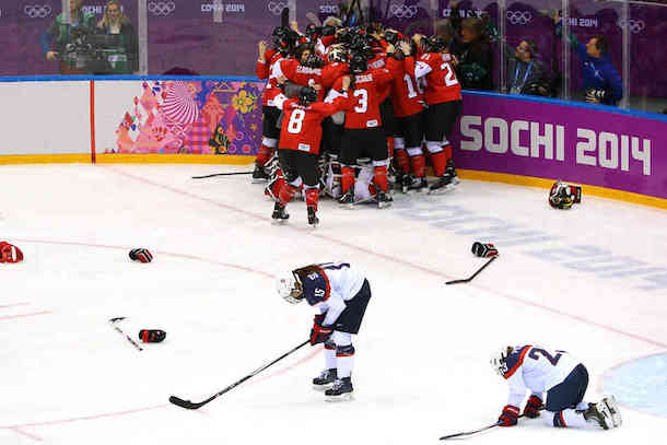 women's hockey usa canada 2014 winter olymics - heartbreaking usa sports losses